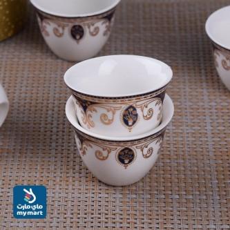 طقم فناجين قهوة عربي  12 فنجان سراميك 46352