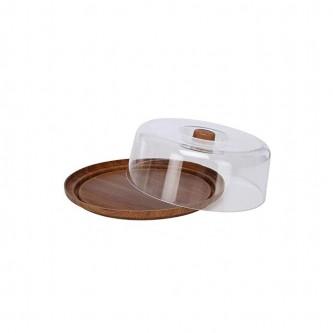 صينية تقديم الكيك والحلا مع غطاء شفاف مقاس 30 سم 10501