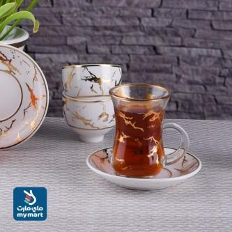 طقم فناجين قهوة وبيالات شاي  36 .قطعة