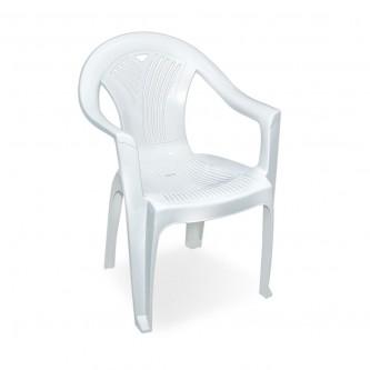 كرسي بلاستيك بذراعين التقنية لون ابيض رقم 2