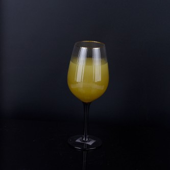 كاس عصير زجاج  ذهبي بقاعده رقم YM-21708
