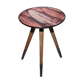 طاولة تقديم وخدمة خشب دائرية - 80-43-3114