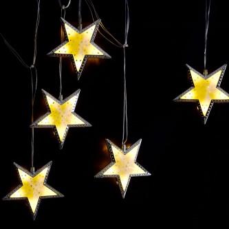 لمبه زينه رمضانية شكل هلال ونجوم فضي AD1-562