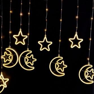 لمبه زينه رمضانية شكل هلال ونجوم AD1-550