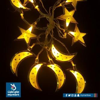 لمبه زينه رمضانية شكل هلال ونجمه صغير AD-1-582