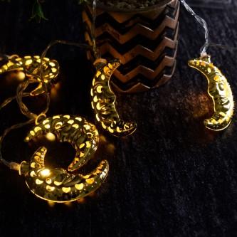 لمبه زينه رمضانية شكل هلال ذهبي حديد AD-1-601