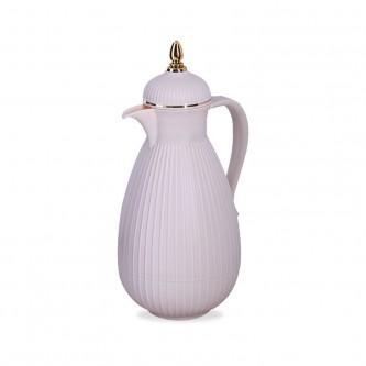 ترمس شاي وقهوة ,الباندا , ريبون , الوان ابيض لولوي مقاس 1.0 لتر , رقم RE-1-071