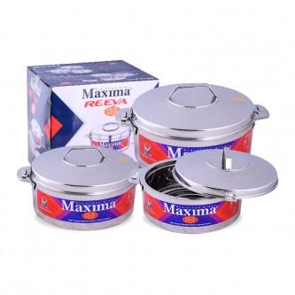 طقم حافظات طعام ماكسيما - استانلس استيل 3 مقاسات - 661084