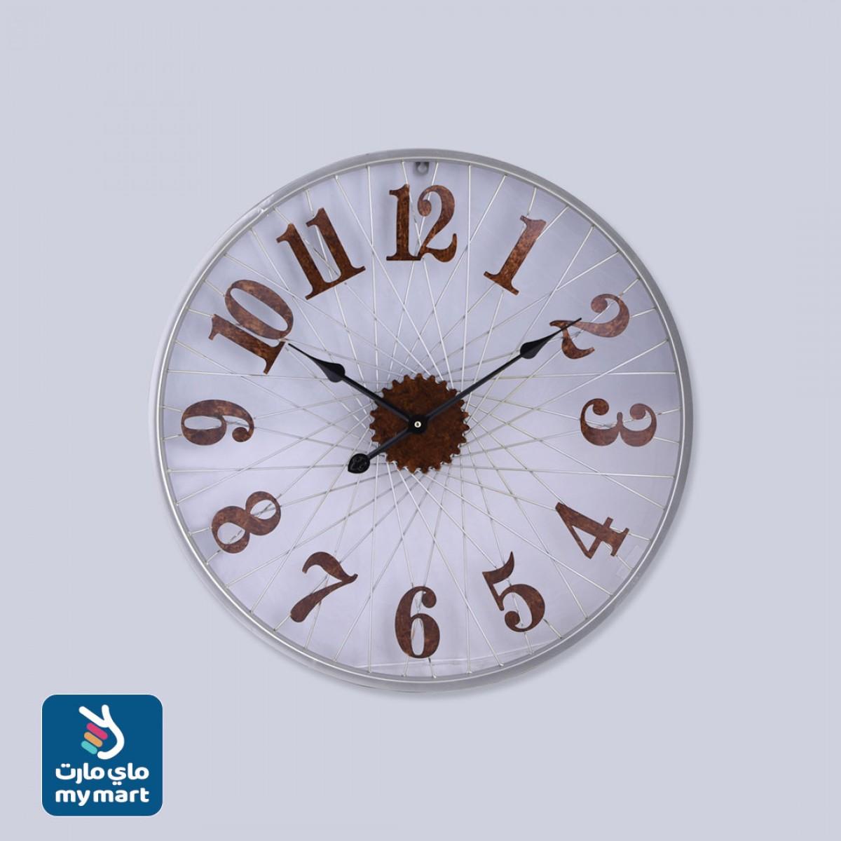ساعة حائط  دائرية الشكل لون ابيض رقم YM-21592