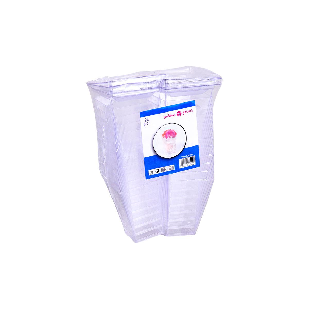 علب حلا شفاف 24 حبه  رقم YM-17090