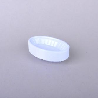 صحن بلاستيك بيضاوي رقم 1/2 , 50 حبة , الوطنية