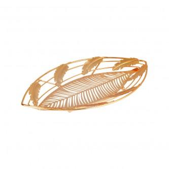 صحن ,حلا ذهبي ,شكل ورقة موديل 0401121G