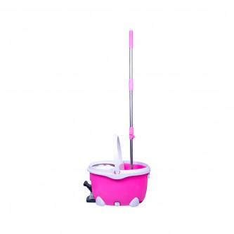 عربية نظافة بلاسيتك SPINMOP , مع عصا , رقم YM-503S