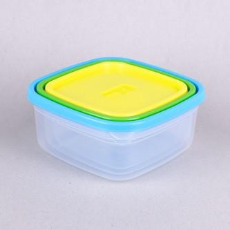 حافظة طعام بلاستيك مربعة 3حبه YM-20927