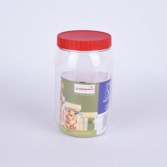 برطمان بغطاء حلزوني بلاستيكي أحمر 1500ML