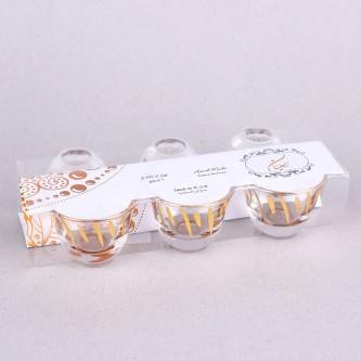 طقم فناجيل زجاج ,من العليان 6حبة ذهبي برقم SHO-P-C-6G