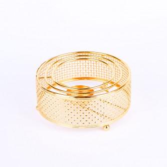 قاعدة شمع التسخين الانيقة ,لون ذهبي ,استيل رقم 1000807