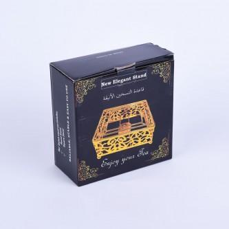 قاعدة شمع التسخين الانيقة ,لون ذهبي,استيل رقم 1000819