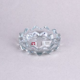 طفاية سجائر زجاج شفاف مدور برقم YG1087