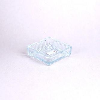 طفاية سجائر زجاج شفاف مربع برقم 043057
