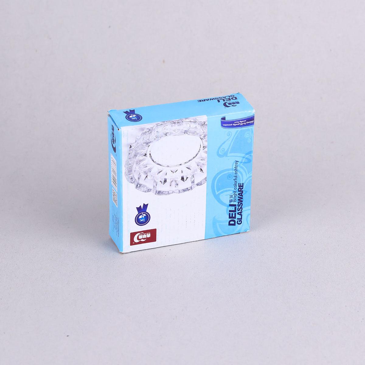 طفاية سجائر زجاج شفاف , مدور برقم YG1006
