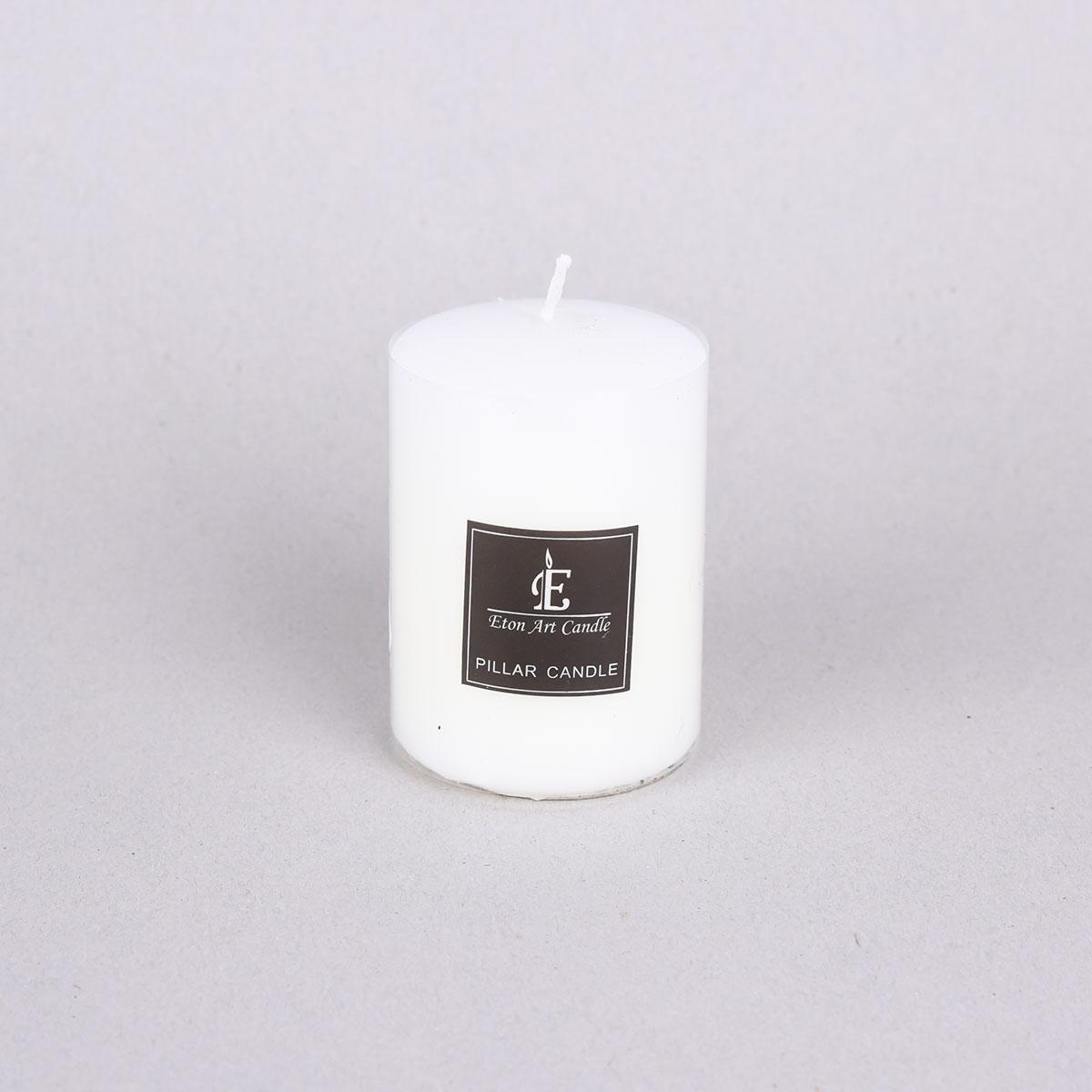 شمعة بدون رائحة  لون ابيض  دائري 10سم, من ماي مارت