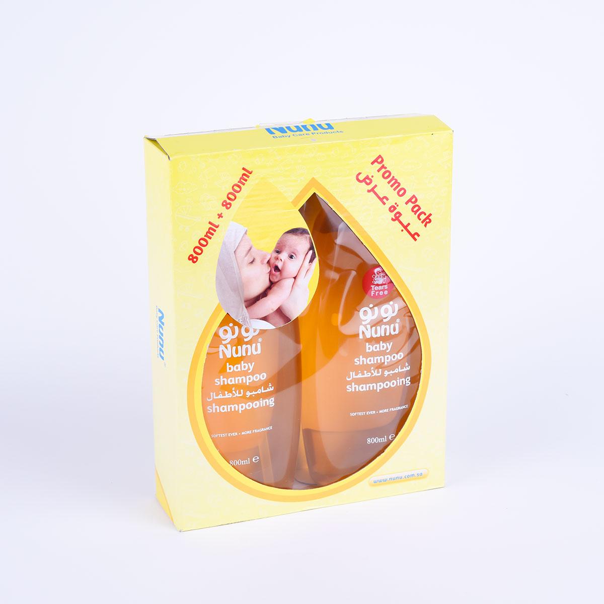 شامبو شعر اطفال, عرض 800مل+800مل,من نونو