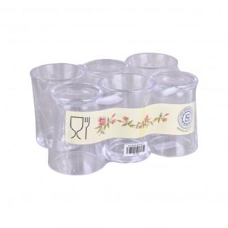 كاسات اكريلك طقم 6 حبة شفاف P149