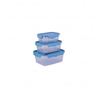 حافظه بلاستيك ازرق طقم 4 حبة موديل 7000050
