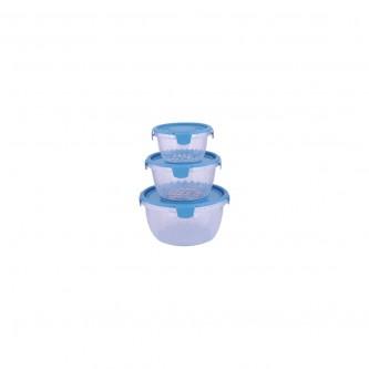 حافظه بلاستيك ازرق طقم 3 حبة موديل 7000040