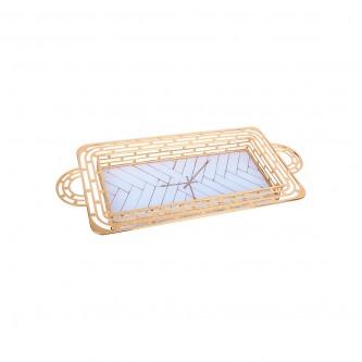 طوفرية استيل مستطيل ذهبي مفرد رقم YFD-1011-31