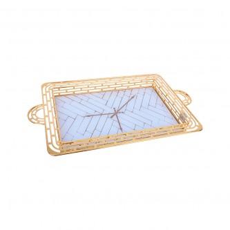 طوفرية استيل مستطيل ذهبي مفرد موديل YFD-1011-37