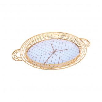 طوفرية استيل بيضاوي .ذهبي مفرد. موديل YFD-1011-40