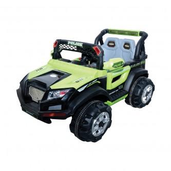 سيارة اطفال كهربائية جيب لون اخضر رقم BBH-318