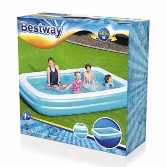 بركة سباحة مستطيلة ازرق قابلة للنفخ من بيست واي  - 54150
