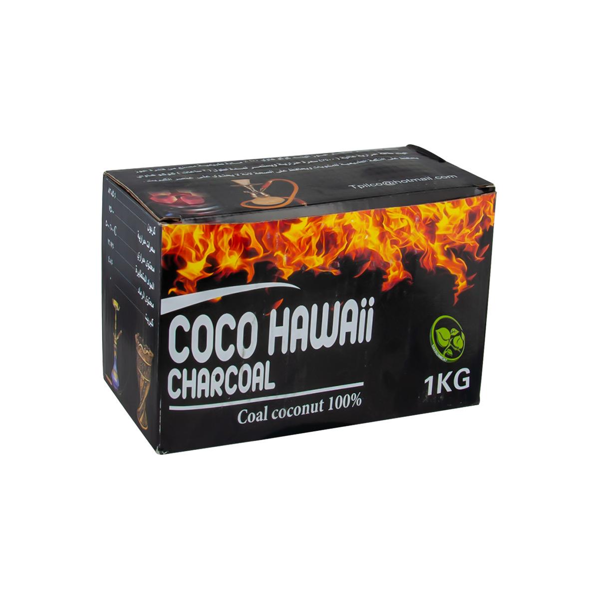 فحم كوكو  هاواي 1كيلو  ثمرة جوز الهند