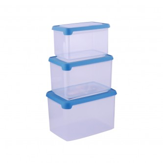 حافظه بلاستيك ازرق طقم 3 حبة موديل 7000061