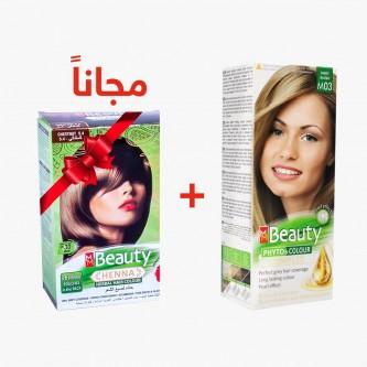 صبغه شعر ام ام بيوتي اشقر رملي رقم M03