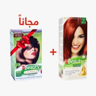 صبغه شعر ام ام بيوتي احمر عقيقي رقم M11