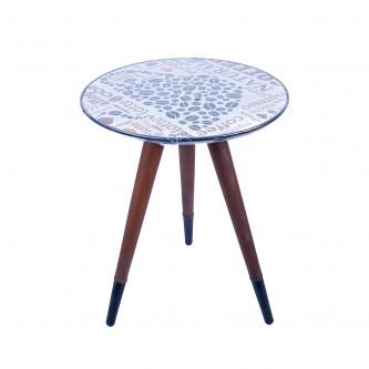طاولة تقديم وخدمة خشب دائرية ,40 سم, موديل  80-43-3008