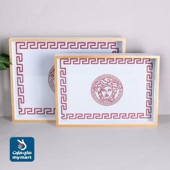 طقم صواني تقديم خشب مستطيل 2حبة موديل 558842