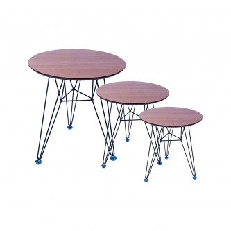 طاولة تقديم وخدمة خشب 3 قطعة موديل CTN1922RBL
