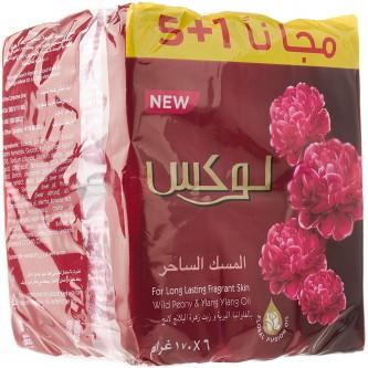 صابون جسم المسك الساحر من لوكس  - ( 5 + 1 حبة مجانا )  - 170 جرام