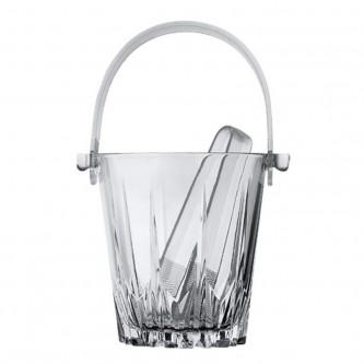 وعاء زجاج للثلج مع مقبض بلاستيك + ملقط بلاستيك موديل 53588