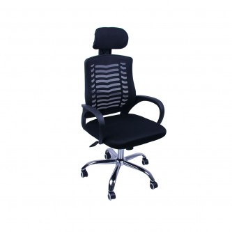 كرسي مكتب متحرك بعجلات - اسود موديل FS5003