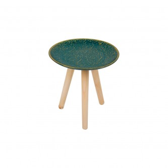 طاولة خدمة مفرد صغير اخضر موديل NO559388