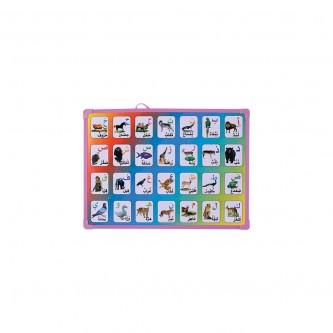 سبوره  حروف  مع  اسماء  الحيوانات  رقم YM-21158