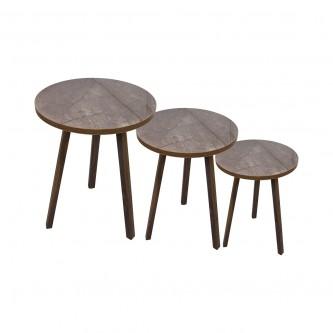طاولة تقديم وخدمة خشب 3 قطعة بني رقم  1160812