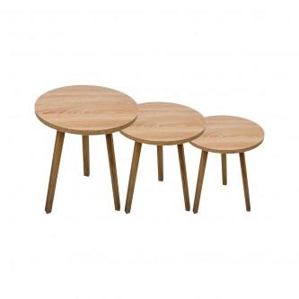 طاولة تقديم وخدمة خشب 3 قطعة بيج EY-06 رقم  1160813