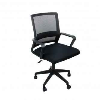 كرسي مكتب متحرك بعجلات - اسود موديل  00200048